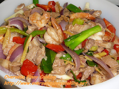 Pork and Prawn Stirfry