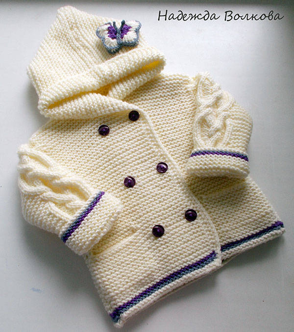 wzór sweterka dla dzidzi