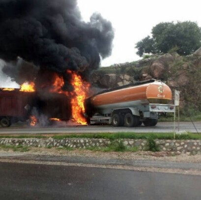 Another Fuel Tanker Collides With Trailer On Highway