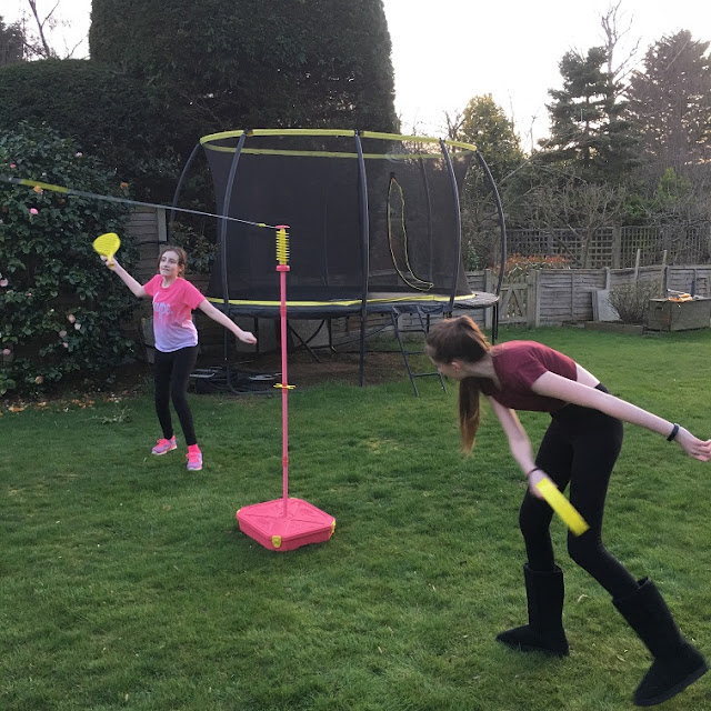 Steph's Two Girls playing Swingball