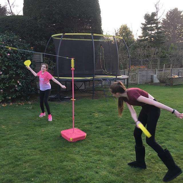 Steph's Two Girls playing Swingball