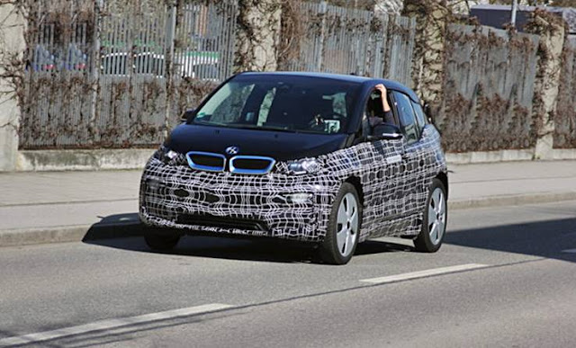 2018 BMW i3 electric car spy shots