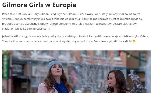 gilmore girls w europie