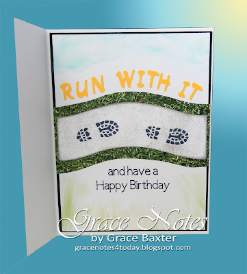 It's your day -- Run with it. Card inside, designed by Grace Baxter