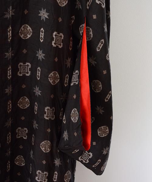 着物 FUNS コート ジャパンヴィンテージ 60年代 アンティーク クレイジー 紋 Kimono Coat Japanese Vintage 60s Crazy Textiles