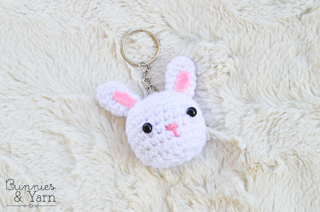 Free Crochet Pattern Rabbit Keychain