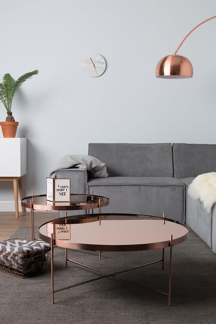 Decoração chique e barata mesa de cobre