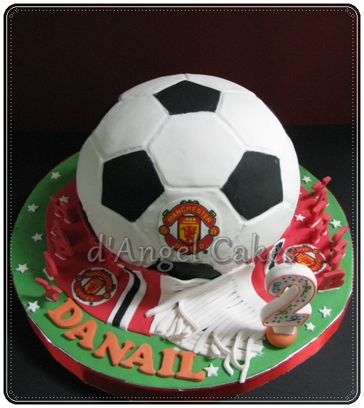 D Angel Cakes Soccer Ball Cake Man U Theme