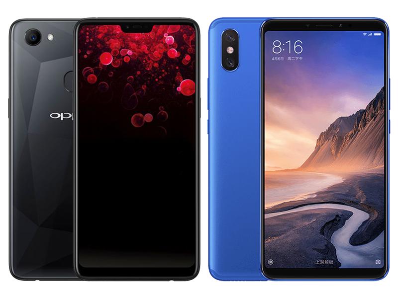 OPPO F7 vs Xiaomi Mi Max 3 Specs Comparison