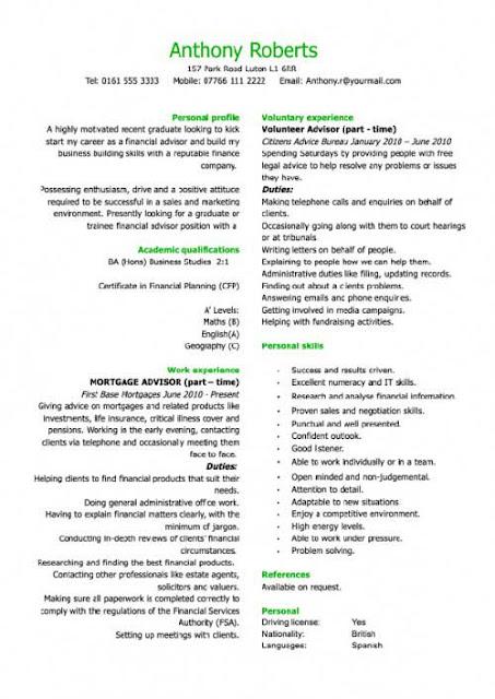 plantillas gratuitas de Currículum Vitae