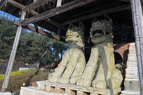 Hachioji Temple Komainu, Gifu Prefecture.