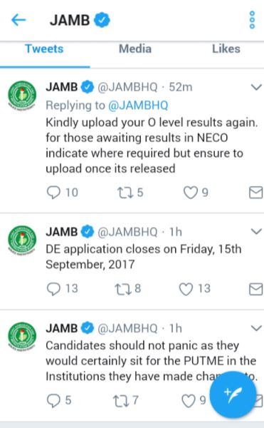 JAMB Orders Candidates To Upload Their O'Level Results Again