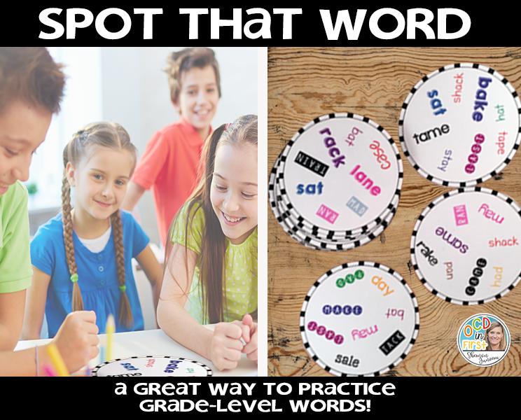 word work, first grade, elementary