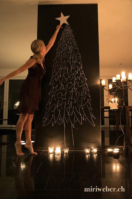 reach for the stars, Christmas Chalkboard, Weihnachten, Christmas, Kreidetafel, Tannenbaum, Baum, Sterne, Lettering