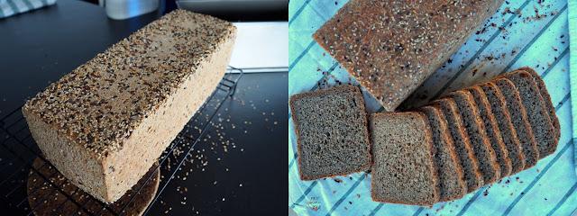 Pan de molde con harinas integrales de trigo y espelta y una completa mezcla de semillas tostadas y chía