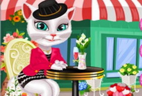 لعبة تلبيس القطة المتكلمة انجيلا