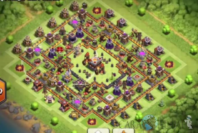 Base Trophy TH 11 COC Update Bomb Tower Terbaru 2017 Tipe 9