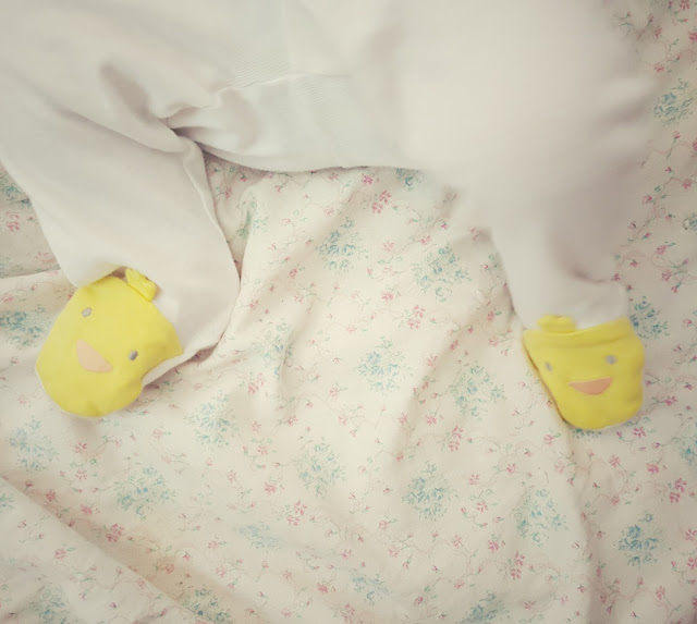 yellow baby feetie pajamas