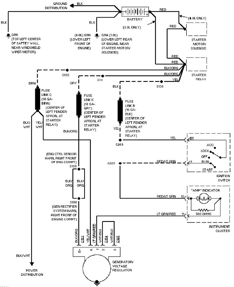 Charging System Schematic 1997 Ford Aerostar Free Service repair