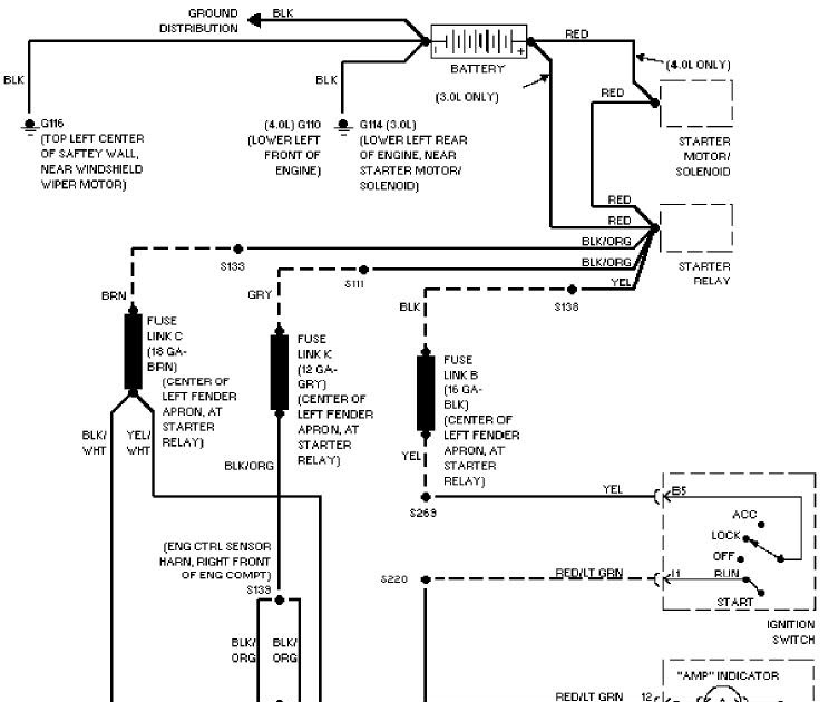 System Troubleshooting Charging System Troubleshooting: Charging System Schematic 1997 Ford Aerostar