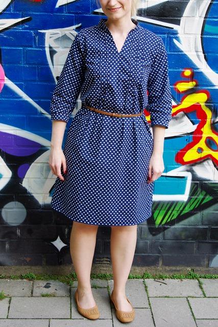 Kleid aus Webware mit Biesen Finas Kleid Finas Ideen