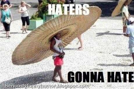 Haters gonna hate - Funny kid wearing HUGE hat