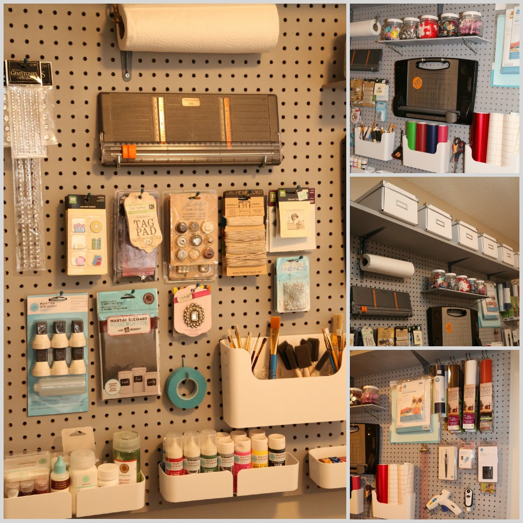craft room organization lookie what i did organizing with pegboard 1632