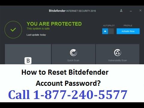 Reset Bitdefender Password