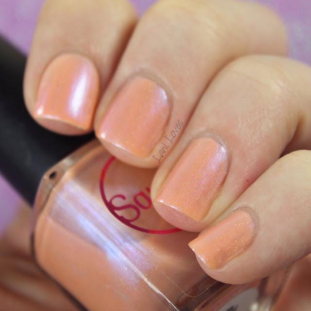 Sayuri Nail Lacquer - Taffy Twist nail polish swatches & review