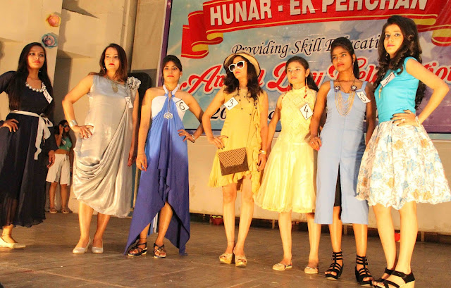 Catwalk of girls in Fashion Show organized on the 26th anniversary of Savitri Polytechnic for Women
