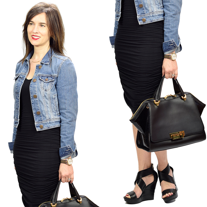 denim jacket black dress