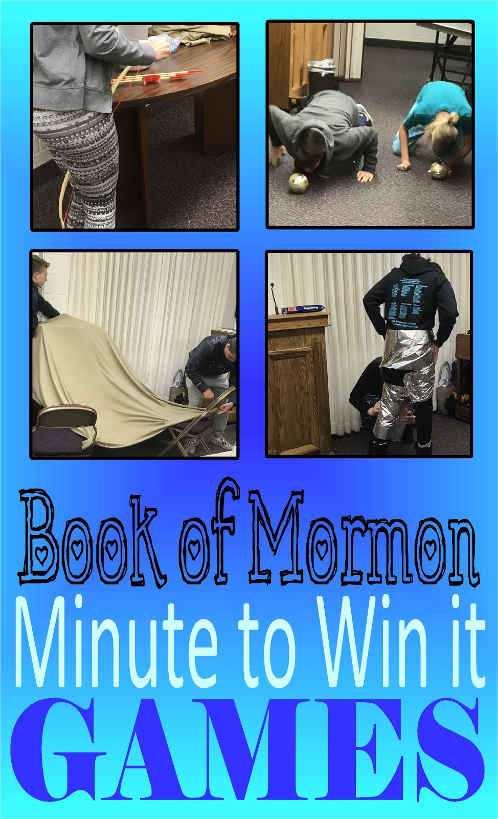 Book of Mormon Minute to Win it Games