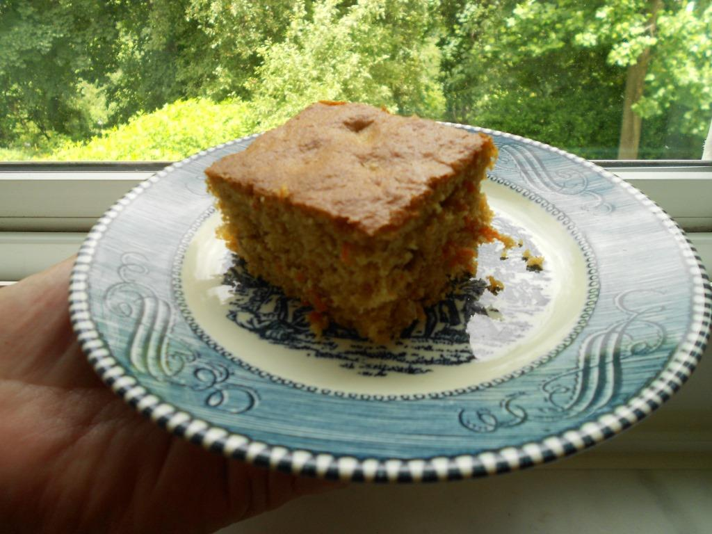 Piece of Quick Carrot Snack Cake on a Plate Image