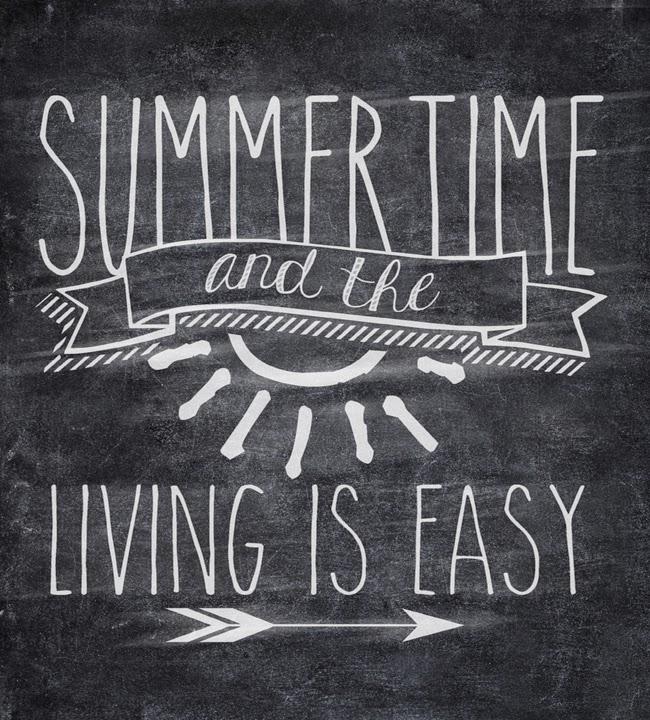 Free Summertime Chalkboard Printable