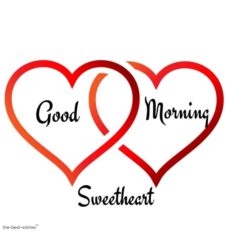 good morning sweetheart with heart love