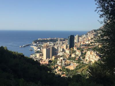 Blick über das Meer bei Monaco