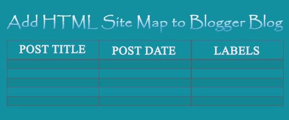 Elegant HTML Sitemap to Blogger Page for Easy Navigation of Vistors