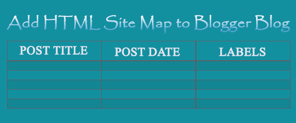 Elegant HTML Sitemap to Blogger Page for Easy Navigation of Vistors
