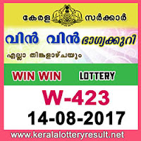 KERALA LOTTERY, kl result yesterday,lottery results, lotteries results, keralalotteries, kerala lottery,   keralalotteryresult, kerala lottery result, kerala lottery result live, kerala lottery results, kerala lottery today,   kerala lottery result today, kerala lottery results today, today kerala lottery result, kerala lottery result   14.8.2017 Win win Lottery W-423, Win win Lottery , Win win Lottery  today result, Win win Lottery  result   yesterday, win win Lottery w-423, win win Lottery 14.8.2017, 14-8-2017 kerala result