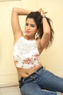 Deekshita Parvathi in a short crop top and Denim Jeans Spicy Pics Beautiful Actress Deekshita Parvathi January 2017 CelebxNext (192).JPG