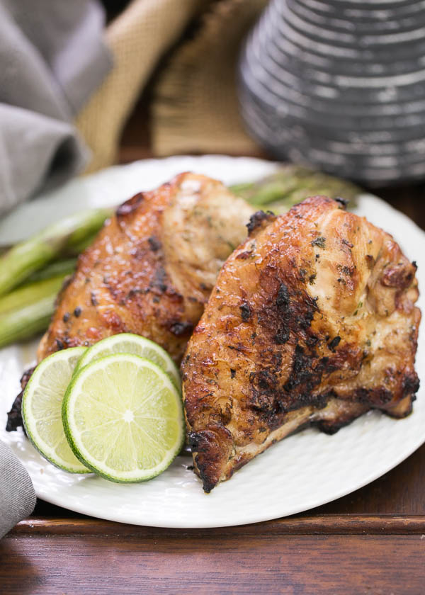 Grilled Thai Chicken - - 11 Easy Chicken Recipes for National Chicken Month | Renee's Kitchen Adventures