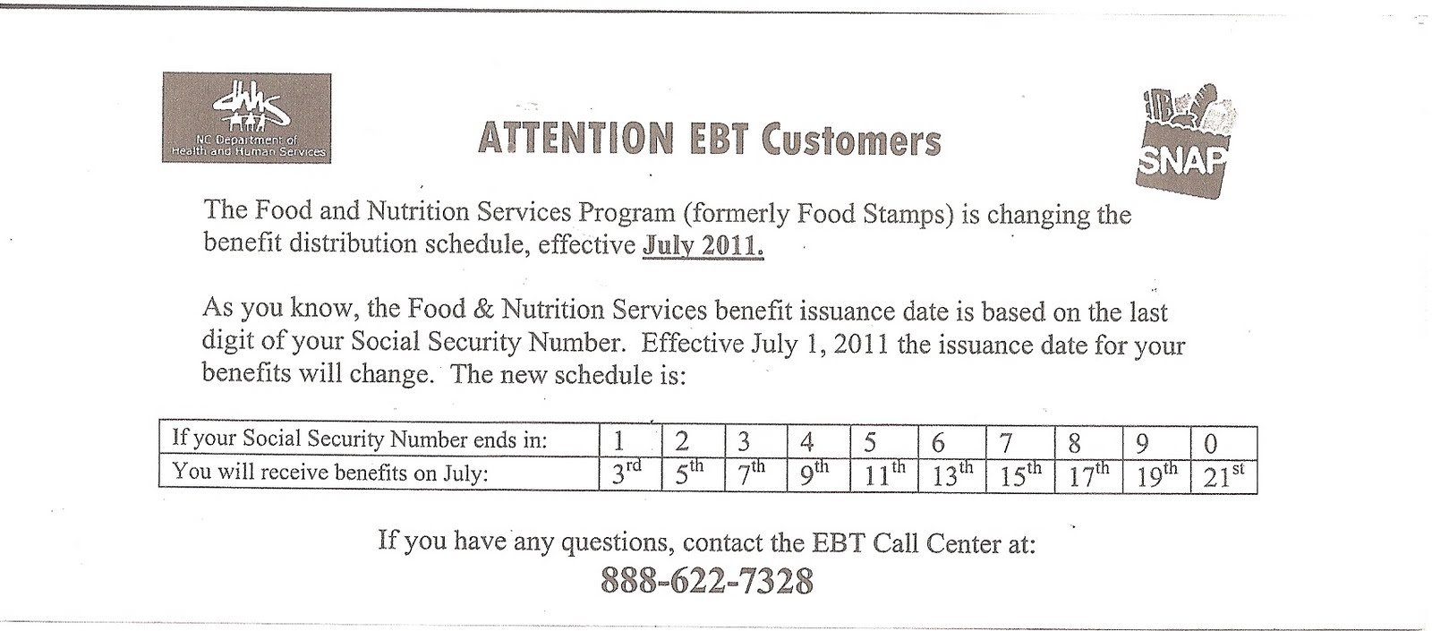 The Last Embassy: The Food and Nutrition Services Program?