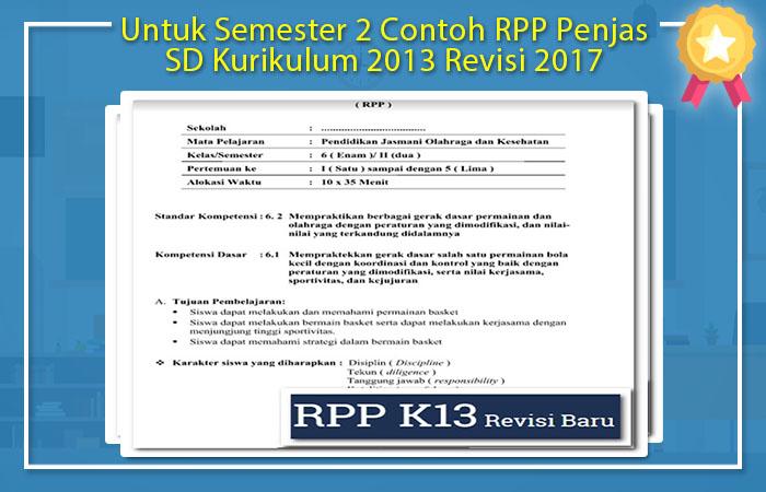Contoh RPP Penjas SD Kurikulum 2013