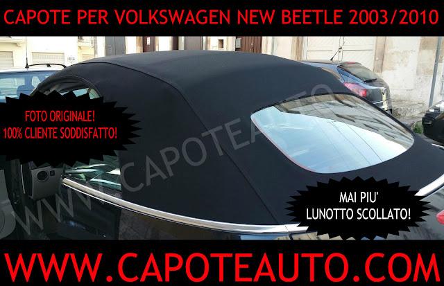 capote cappotta new beetle lunotto scollato