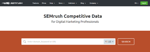 SEMRush Competitors research tool