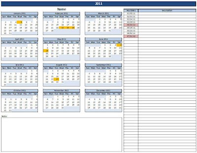 Important Dates Template dates to remember print *free template - important dates template