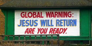 "Billboard that reads, ""Global warning: Jesus will return. Are you ready."""