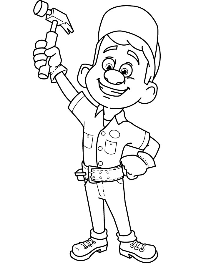 coloring pages for wreck it ralph | Coloring Pages for everyone: Mewarnai Wreck-It Ralph