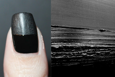Soulages inspired Nail Art