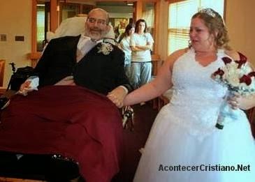 Hombre con cáncer acompaña a su hija en matrimonio